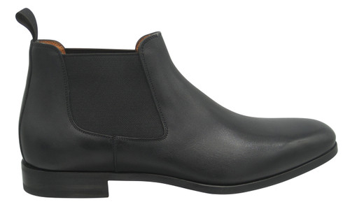 Santoni Gunther Black Chelsea boot