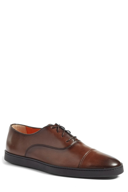 Santoni Durbin Dark Brown cap toe lace up