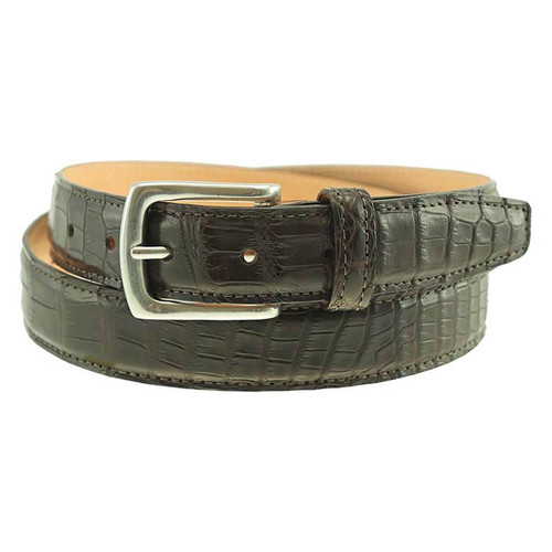 Sherman Brothers Torrence Alligator Dress Belt Mahogany