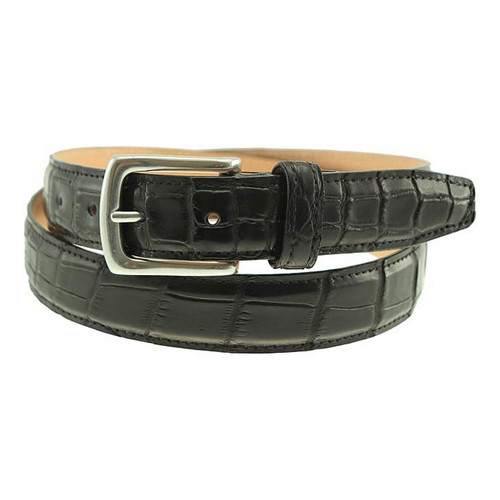 Sherman Brothers Torrence Alligator Dress Belt Black