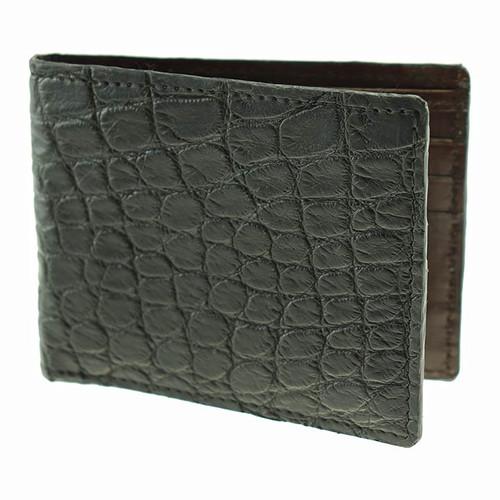 Sherman Brothers Lancaster Alligator Wallet Black