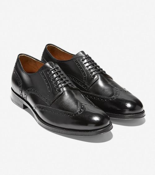 Cole Haan American Classic Gramercy Derby Wingtip Oxford Black