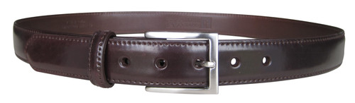 Sherman Brothers Genuine Shell Cordovan Belt Color 8 with Nickel Buckle