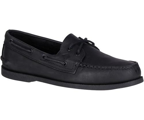 Sperry Men's Authentic Original Leather Boat Shoe Black
