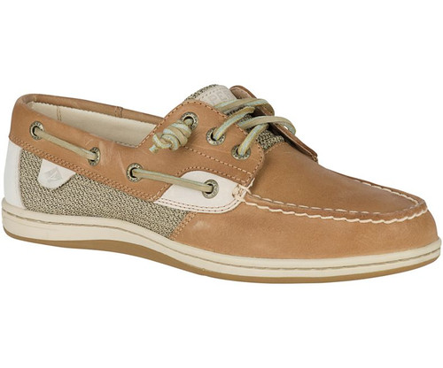 Sperry Women's Songfish Boat Shoe Linen Oat