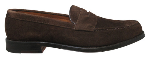 Alden Long Vamp Handsewn Dark Brown Suede