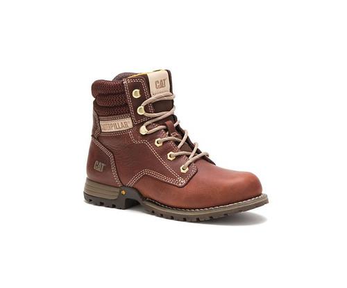 "CAT Footwear Women's Paisley 6"" Soft Toe Work Boot Tawny"