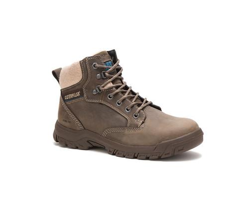 CAT Footwear Women's Tess Steel Toe Work Boot Dark Gull Grey