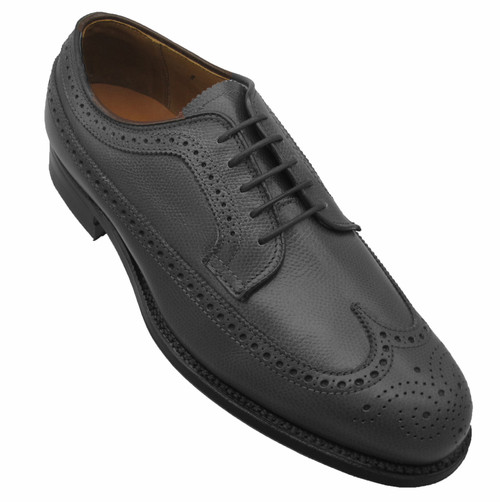 Alden Long Wing Tip Blucher Oxford Black Alpine Grain #679