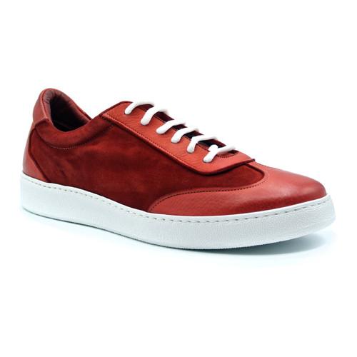 Zelli Tonio Italian Suede Sneaker Red