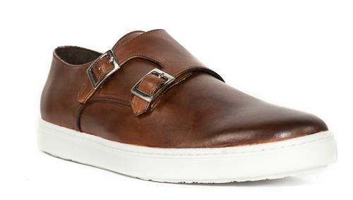 G. Brown Jaxon Double Monk Calfskin Sneaker Brown # 207