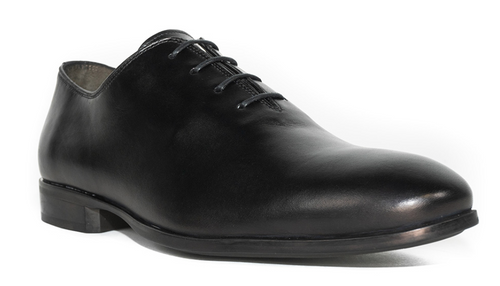 G. Brown Denver Plain Toe Bal Rubber Sole Oxford Black # 100