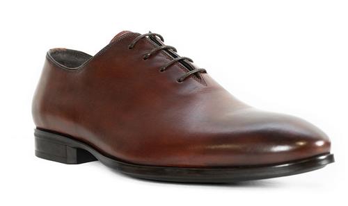G. Brown Denver Plain Toe Bal Rubber Sole Oxford Burgundy # 650