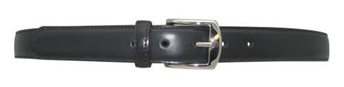 "Alden 1.25"" Genuine Shell Cordovan Dress Black Belt with Nickel Buckle # MB0915"