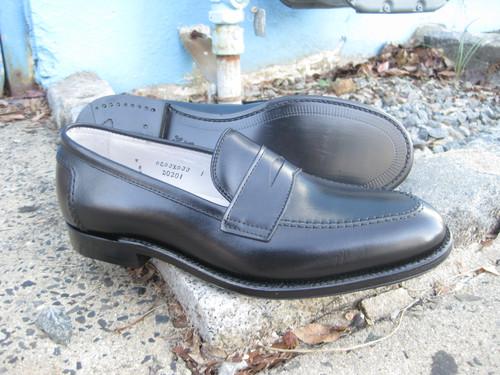 Alden Penny Slip on Black Calfskin # D0201