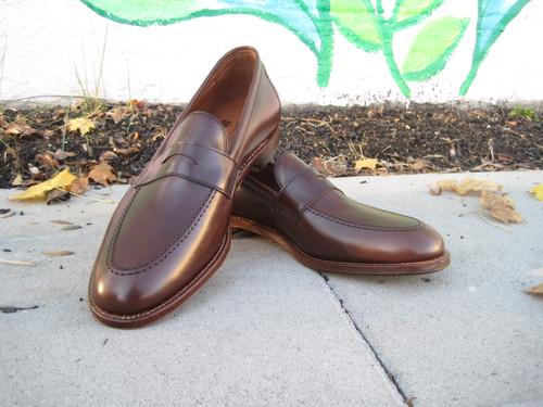 Alden Penny Slip on Dark Brown Calfskin # D0202