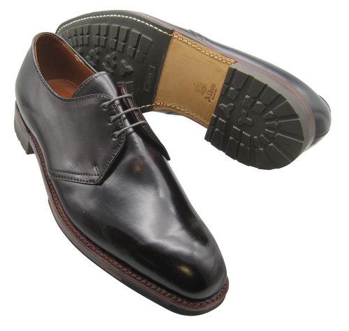 ALDEN DUTTON THREE EYELET BLUCHER OXFORD W/ COMMANDO SOLE Color 8 Shell Cordovan D8403C