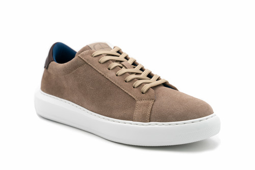 G. Brown Puff Tan Suede Leather Sneaker w/Brown tab #526