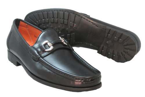 Santoni Sam Buckle Slip-On Black