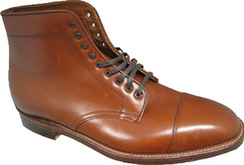 Alden Men's Straight Tip Boot Burnished Tan Calfskin #3914