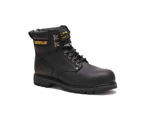 CAT Footwear Men's Second Shift Steel Toe Work Boot Black
