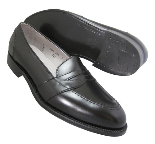 Alden Full Strap Slip-On Black Calfskin #681