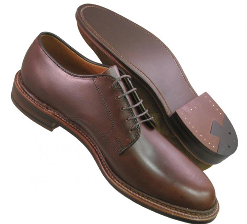 Alden Plain Toe Blucher with Unlined Vamp Brown Aniline Leather #29364F
