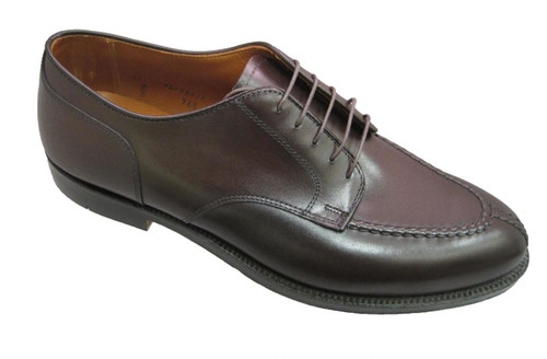 Alden Norwegian Front Blucher with Handsewn Vamp & Toe Seam  Dark Brown #968