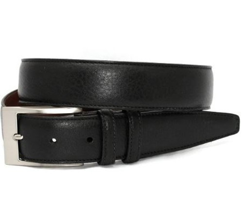 Torino XL Soft Deertan Glove Leather Belt Black