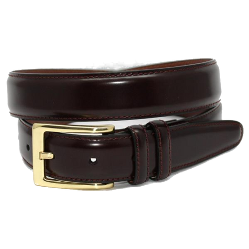 Torino XL Antigua Leather Cordovan Belt Burgundy