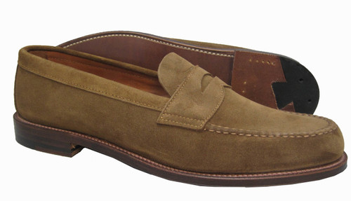 Alden Penny Loafer with Unlined Vamp Snuff Suede #6243F