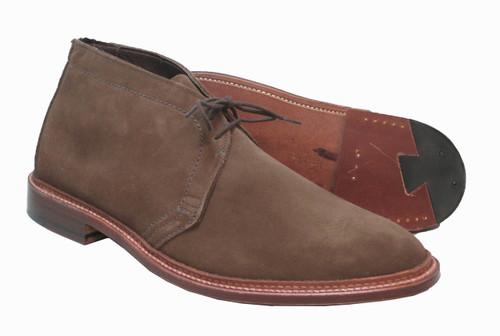 Alden Unlined Chukka Boot Dark Brown Suede #1492
