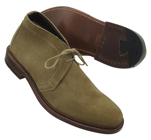 Alden Unlined Chukka Boot Tan Suede #1494