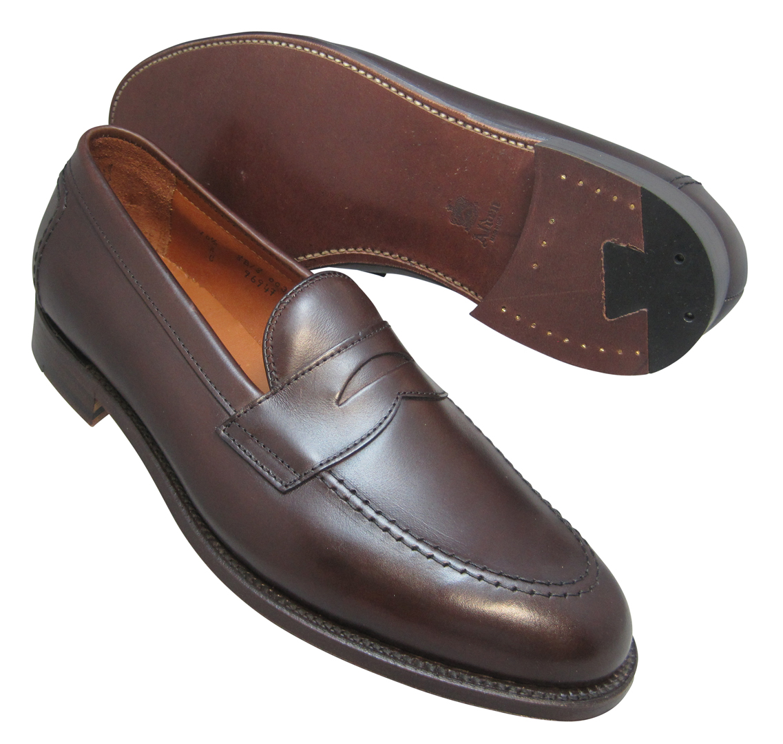8bd20736abdb Alden Penny Loafer Dark Brown Soft Calfskin  9694F. Tap to expand