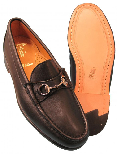 20684bf07 Alden Men's Cape Cod - Horse Bit Loafer Black Calfskin #H467