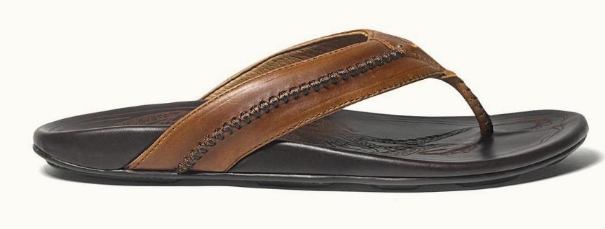 1607c86b3ade Oluaki - Men s Mea Ola Canoe-Lash Designed Sandal Tan and Dark Java -  Sherman Brothers Inc
