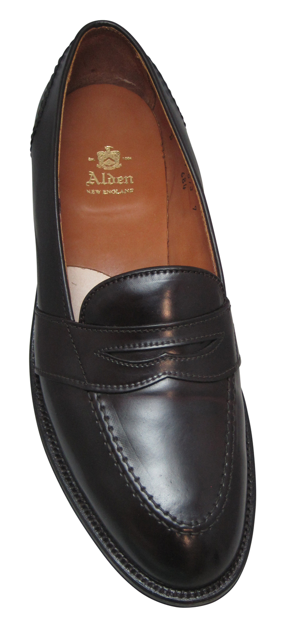 6ca18f5a5a290f ... Alden Full Strap Slip-On Loafer Color 8 Shell Cordovan  684 ...