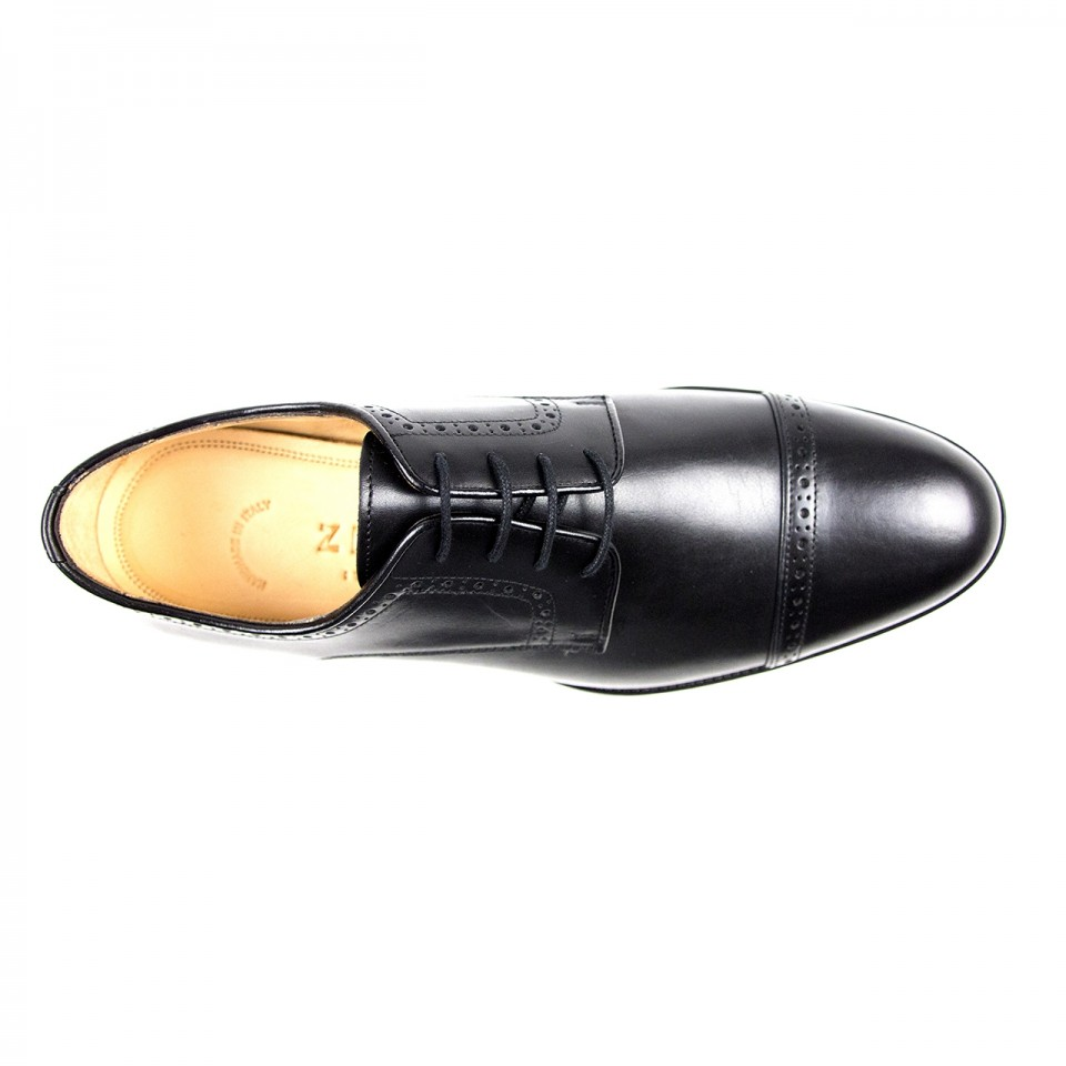 28cfd6ef3a5 Zelli Giovanni Italian Calfskin Lace-Up Black - Sherman Brothers Inc