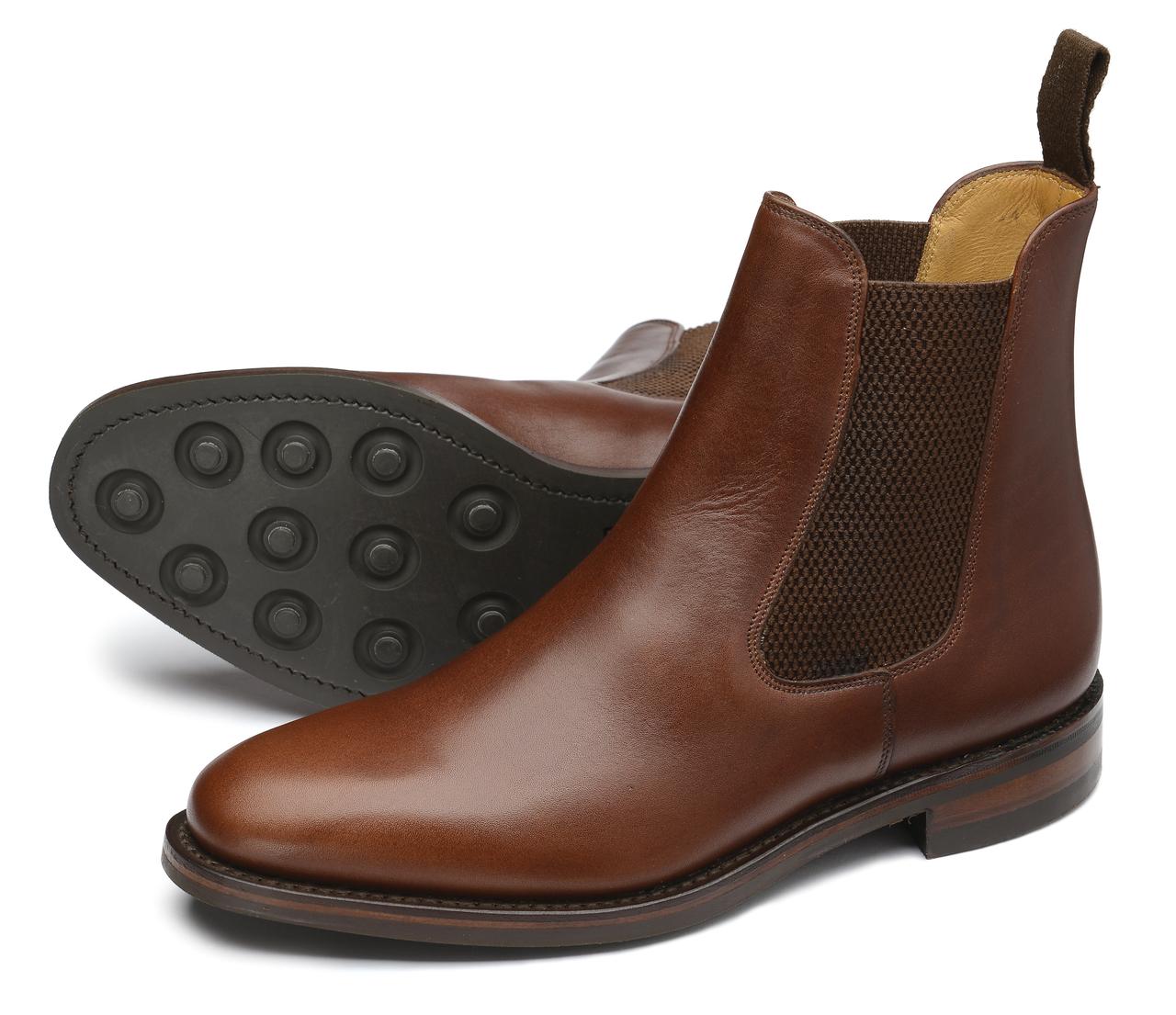 6a61f9e49ca Loake Blenheim Brown Leather - Sherman Brothers Inc