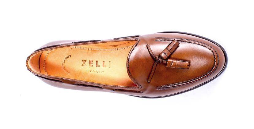 2ebf04f8347 Zelli Franco Italian Calfskin Penny Loafer Caramel - Sherman ...
