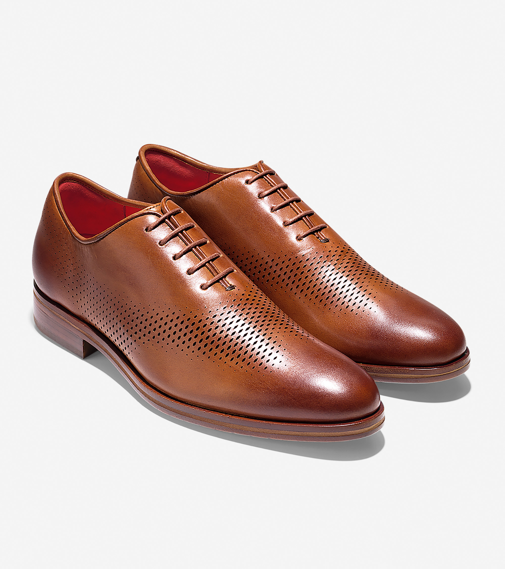 Cole Haan American Classic Gramercy Derby Wholecut Dress Oxford In British Tan