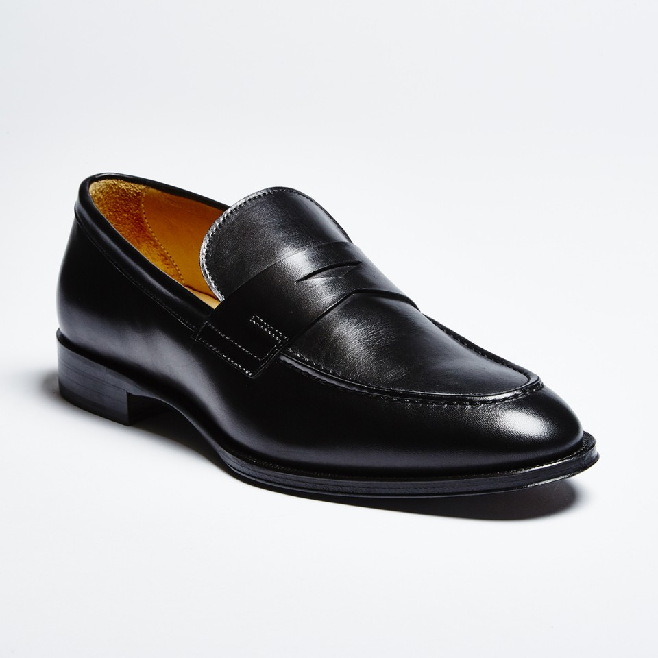 Zelli Roma Calfskin Penny Loafer Black. Tap to expand 09894c0bd85