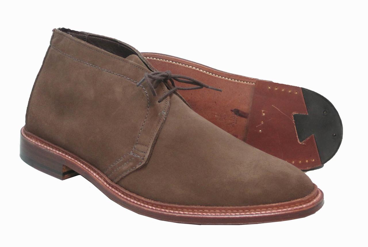 bbf46af7412 Alden Unlined Chukka Boot Dark Brown Suede #1492