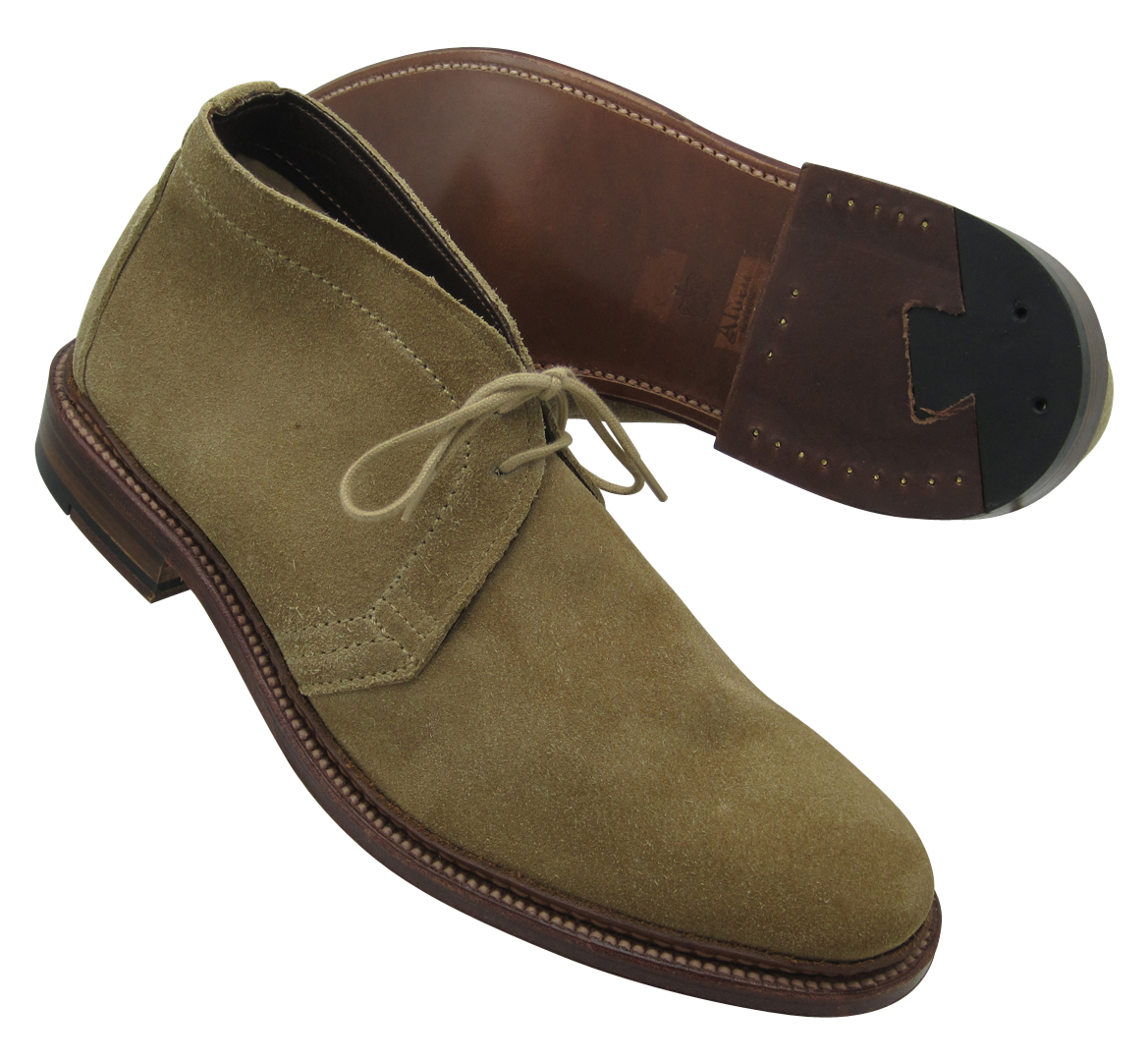 4e8b347ba1e Alden Unlined Chukka Boot Tan Suede #1494