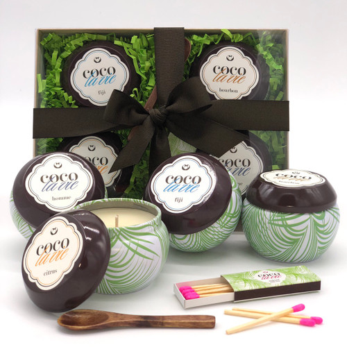 Coco La Vie Fab Four Travel Candle Sampler Boxed Gift Set