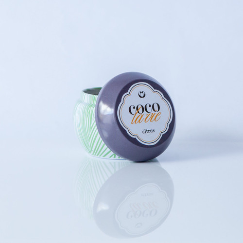 Citrus Scented Coco La Vie Massage Travel Tin