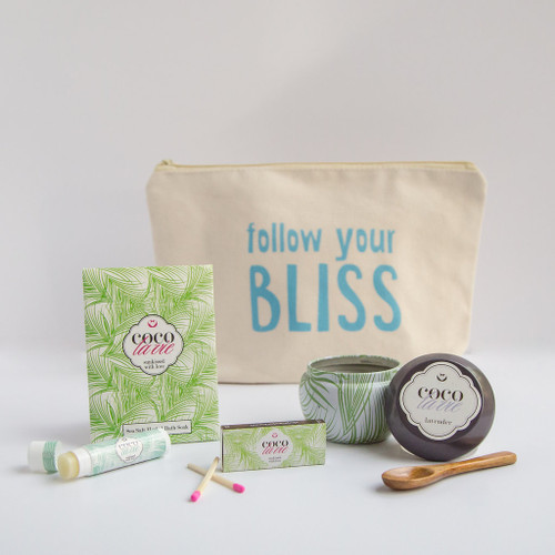 Coco La Vie_Follow Your Bliss Little Bit of Coco Travel Set_Lavender Travel Candle