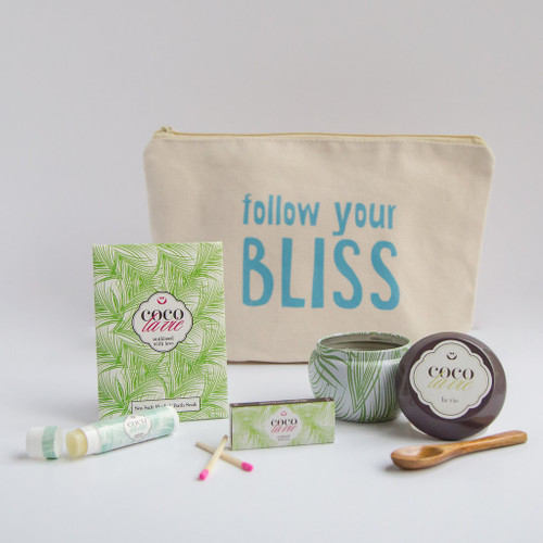 Coco La Vie_Follow Your Bliss Little Bit of Coco Travel Set_La Vie Travel Candle