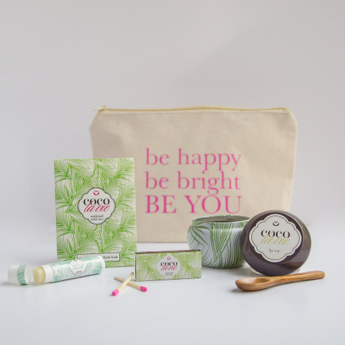 Coco La Vie_Be Happy, Be Bright, Be YOU! Little Bit of Coco Travel Set_La Vie Travel Candle