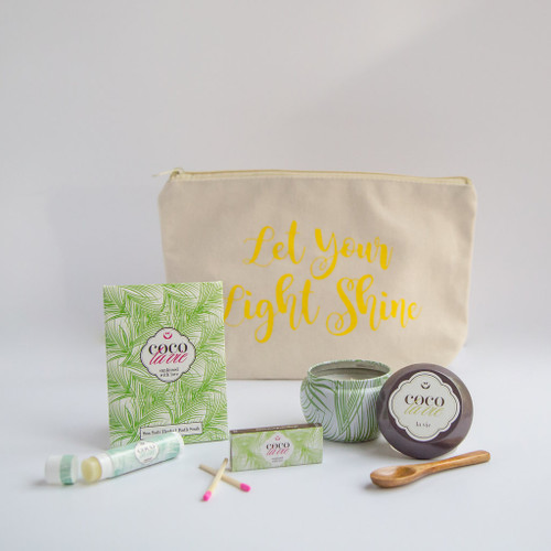 Coco La Vie_Let Your Light Shine Little Bit of Coco Travel Set_La Vie Travel Candle